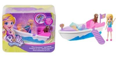 Polly Pocket Yacht s bábikou a pes GDM09