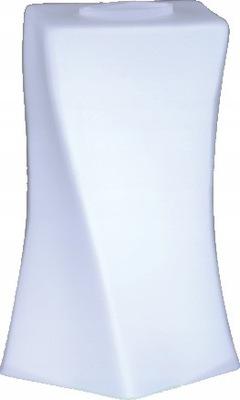 Klosz Nowoczesny Szklany Biały Wygięty Skos Wysoki