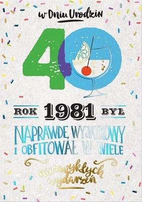 Kartka na 40 urodziny dla urodzonych w 1981r PR300