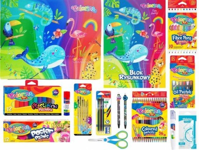 Zestaw szkolny Mega Colorino 26 elementów