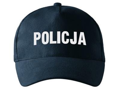 MUNDUROWA CZAPKA Z DASZKIEM ODBLASKOWY wz. POLICJA