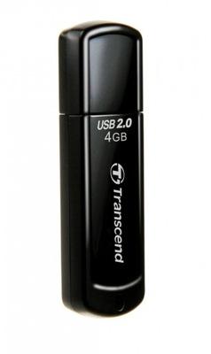 TRANSCEND 4GB JETFLASH 350 USB PENDRIVE 22MBs BLK