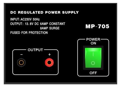 Zasilacz transformatorowy 13.8V 8A CB KF VHF UHF