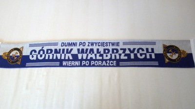 SZAL KIBICA DZIANY- GÓRNIK WAŁBRZYCH - DWUSTRONNY.