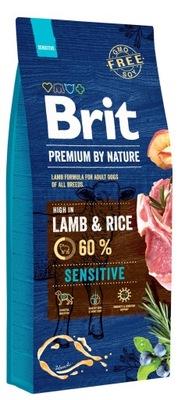 Brit премиум by Nature Sensitive Lamb 15 кг
