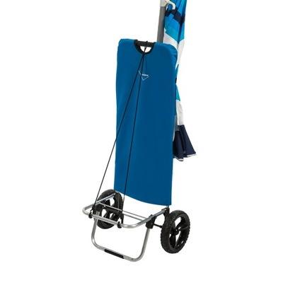 Wózek transportowy na plażę dwukołowy składany