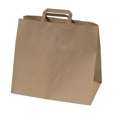 Torba torebka papierowa szara 32x20x29 100 szt