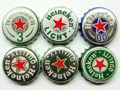 zestaw Heineken Holandia 6 sztuk kolekcja