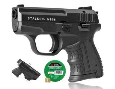 ZESTAW Pistolet hukowy STALKER M906 +KABURA+NABOJE