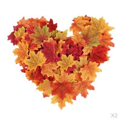 Zestaw Sztuczne Liscie Lisc Kwiaty 100 Szt 4kol 6912184973 Allegro Pl