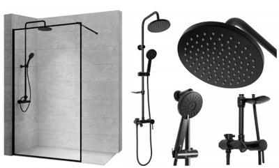 Ścianka Prysznicowa Bler 100 cm + Natrysk Tokyo