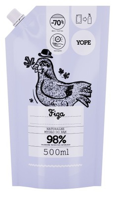YOPE Naturalne Mydło w płynie Figa REFILL 500 ml