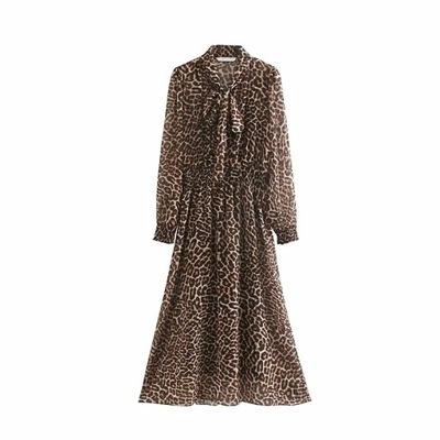 ZARA - sukienka maxi w panterkę - L