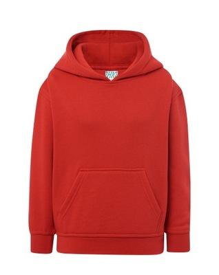 Czerwona wciągana bluza dziecięca z kapturem