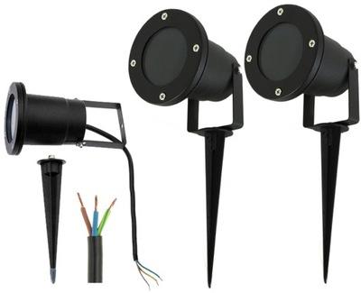 2x Lampa ogrodowa LED reflektor GU10 IP65 szczelna