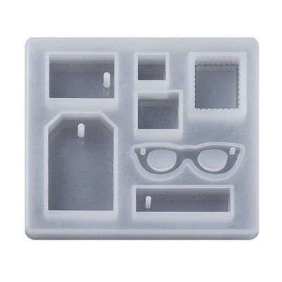 BFS92 прессформа силиконовая D /смол подвески очки