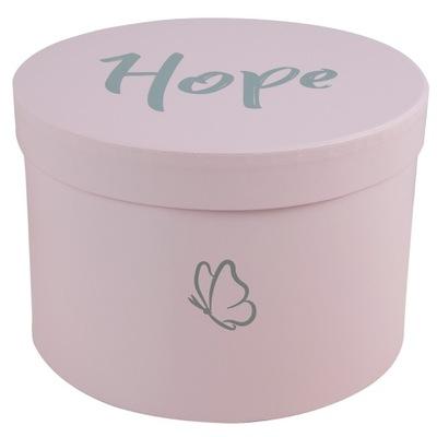 Flower Box Okrągły Różowe Pudełko Prezentowe Hope