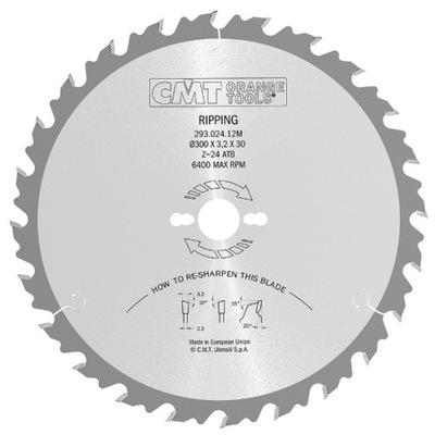 CMT Piła HM do drewna 600x30x66Z /cięcie wzdłużne