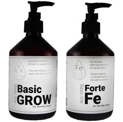 QualDrop Basic Grow + Fe Forte 2x500ml ZESTAW