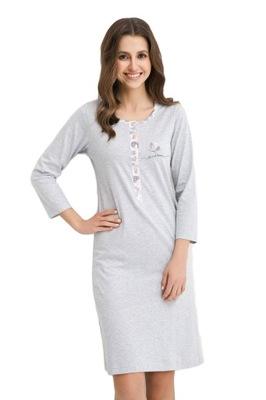 Koszula nocna Luna długa bawełniana w kwiaty 7885928335  G0fTJ