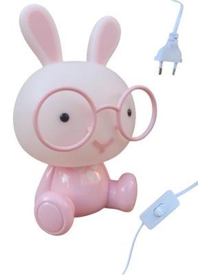 Lampka nocna dla dzieci królik Światło LED Różowa