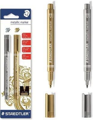 Marker Dekoracyjny STAEDTLER zestaw Złoty Srebrny