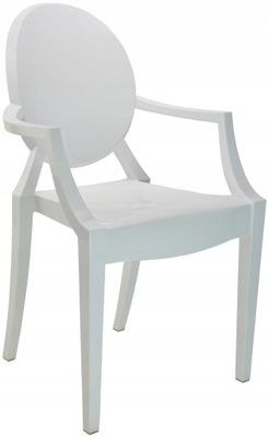 Włoskie Krzesło Louis BIAŁY