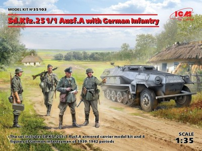ICM 35103 - 1:35 Sd.Kfz.251/1 Ausf.A with Infantry