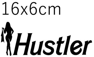 НАКЛЕЙКА НА АВТОМОБИЛЬ HUSTLER 16X6CM