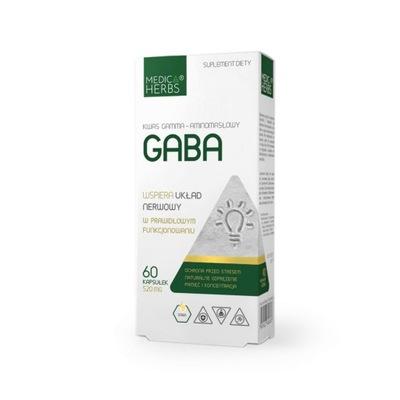 Medica Herbs GABA 520mg KONCENTRACJA Stres PAMIĘĆ