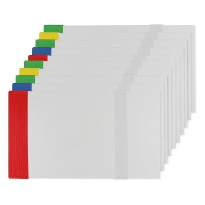 Zestaw 10x Okładka na zeszyt książke regulacja B6
