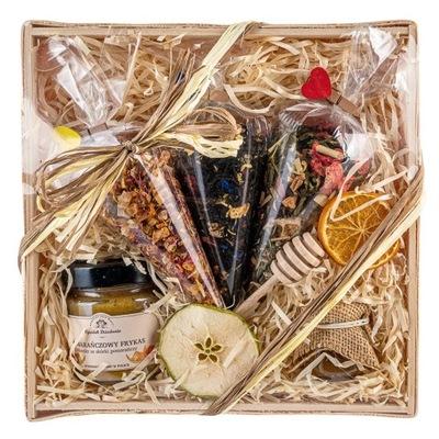 Корзина с подарками комплект чаев в рожках подарок