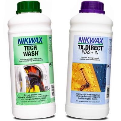 Zestaw Nikwax Tech Wash + TX Direct Wash-In 2x1l