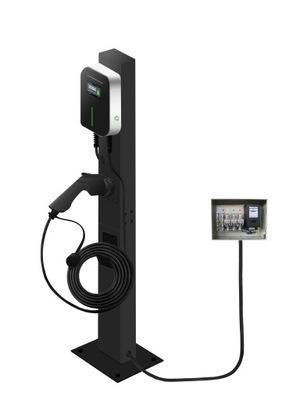 Stacja, Wallbox 11kW + słupek + kabel + RFID