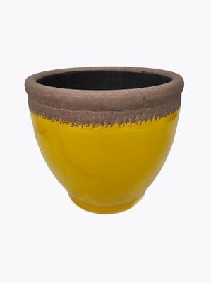 Doniczka ceramiczna żółta Ø24cm OGRODOWA TARAS