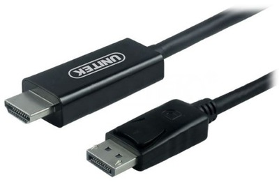 Kabel DisplayPort HDMI Unitek Y-5118CA czarny 1,8m