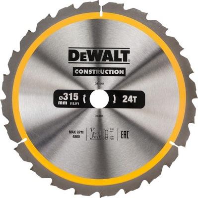 DeWalt DT1961 tarcza piła do drewna 315mm 30mm 24z