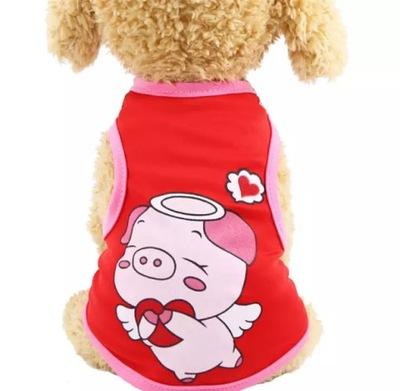 футболки ФУТБОЛКА собаки одежды Йорк S красная