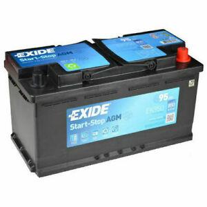 EXIDE СТАРТ СТОП AGM EK950 95AH 850A P+
