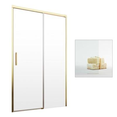Drzwi wnękowe szklane złoty profil 160 cm P czyste