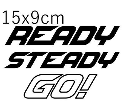 НАКЛЕЙКА WYSCIGOWA READY STEAD GO! 15X9CM