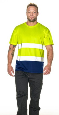 T-shirt koszulka Hi-Vis ostrzegawcza żółta rozm L