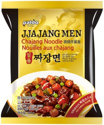 Jjajangmen, макароны с соусом chajang 200г - Paldo
