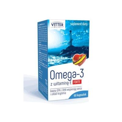 Forte Vitter Blue Omega-3 z witaminą E 60 kaps.