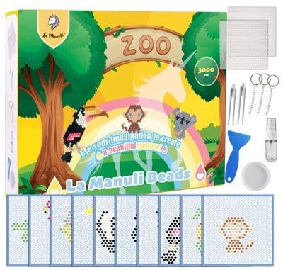 Koraliki Wodne DIAMENTOWE Zoo Zwierzęta 3000szt