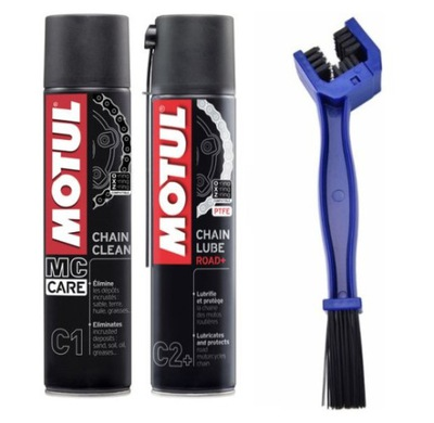 Комплект для очистки цепи MOTUL C1 C2+ щетка
