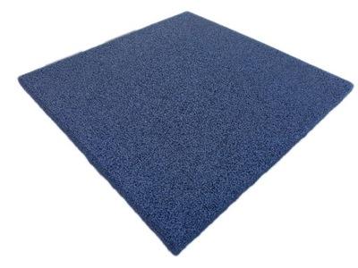 Mata gumowa SBR antypoślizgowa niebieska 35 mm