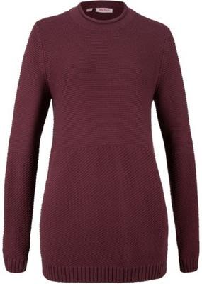 J391 BPC Sweter z teksturowanej dzianiny r.36/38