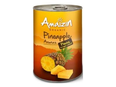 Ananas w Kawałkach w Sosie Własnym 400g - Amaizin
