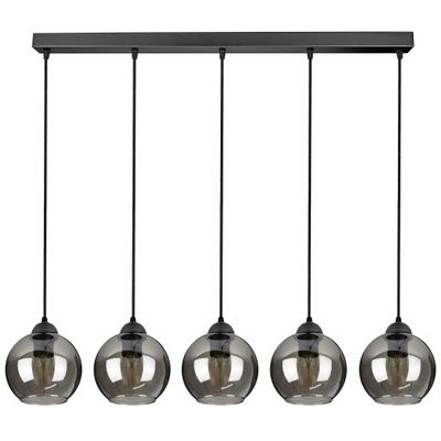 Szklana Lampa Wisząca Sufitowa Żyrandol Kule LED